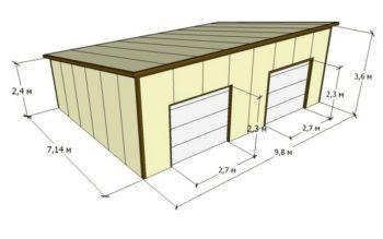 чертеж гаража