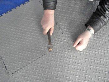 процесс сборки плитки