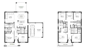 дом на 2 этажа