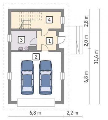 гараж на 2 машины