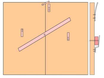 вертушка для ворот гаража