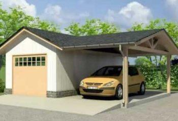 как сделать навес возле гаража