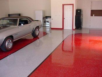 покраска пола в гараже