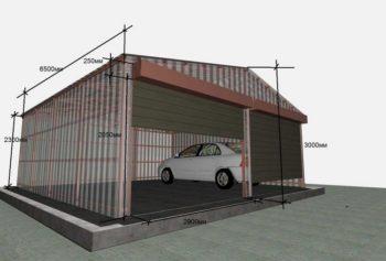 схема гаража из профнастила