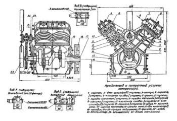 чертеж поршневого компрессора