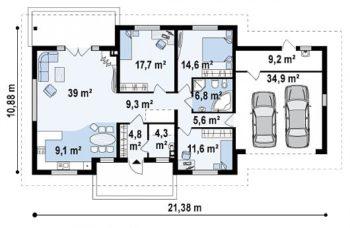 дом и гараж на 2 авто