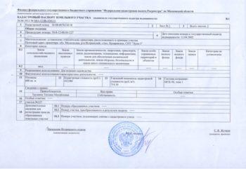 паспорт на земельный участок