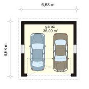 чертеж гаража на 2 автомобиля