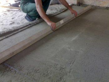 как сделать пол из тротуарной плитки